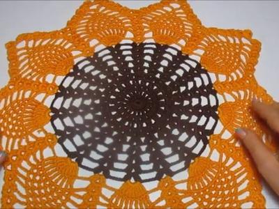 Uncinetto Crochet Centrino Girasole Piccolo