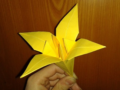 Origami: fiore di iris (facile)