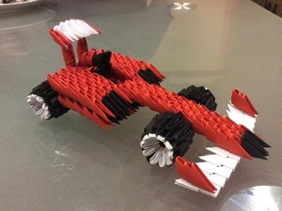 3D origami Ferrari (Formula1)