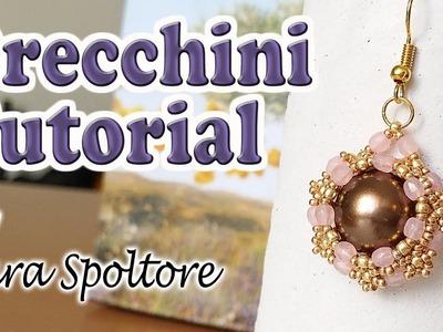 Tutorial orecchini con perline - Come fare orecchini fai da te con perline - Orecchini facili