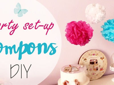 Tuto: Pompon di carta velina per Feste - ENG SUBS Party set-up pompons DIY (collab. Dalani)