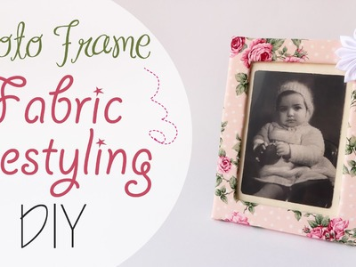 Tuto: Rivestire 1 cornice in Stoffa - ENG SUBS Photo frame fabric restyling DIY