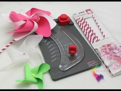 We R Memory Keepers Pinwheel Punch Board Tutorial-Girandole di carta Fai da te-Product Review