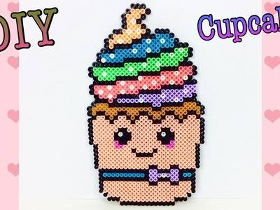 Cupcake Kawaii Con Hama Beads. Pyssla. Perler Beads Cupcake ✿