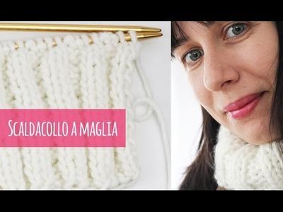 Come fare uno scaldacollo a maglia (con spiegazioni chiare)
