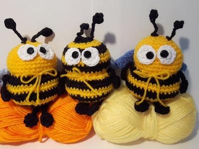 Tutorial Ape Uncinetto - Amigurumi Crochet Bee - Abeja Croche