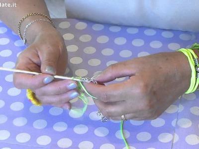 Tutorial bracciale con filo di cotone e catena fai da te