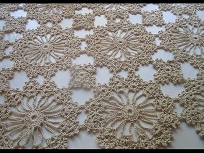 Uncinetto Crochet Ccentro Tavolo  Catenella