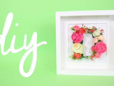 DIY • LETTERA A FIORI in cornice ikea