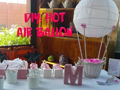 Diy: hot air ballon with ikea lamp.Diy: mongolfiera con lampada ikea