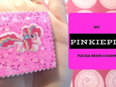 DIY -  Pinkie Pie - Fucsia resin charms