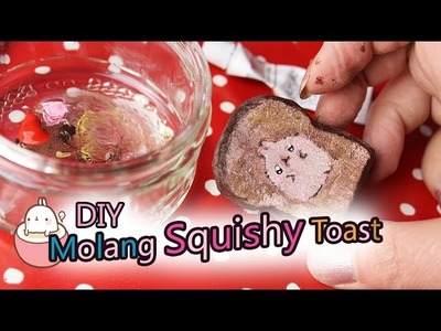 DIY Molang Squishy Toast ❤