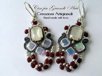 DIY - Orecchini Burlesque con tila beads