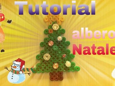 Tutorial albero di Natale in pyssla con glitter e perline  !!