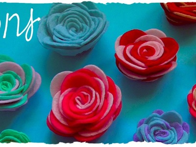 Tutorial: Rose in Feltro o Pannolenci Fai Da Te | DIY Felt Rose