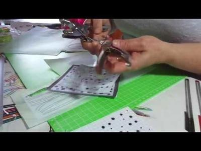 Come realizzare gli  stencil. Scrapbooking DIY.  Stencil Handmade