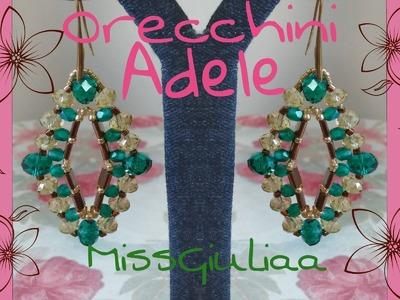 DIY Tutorial Orecchini Adele | Tila Cipollotti Mezzi cristalli cubi toho e perline  | MissGiuliaa