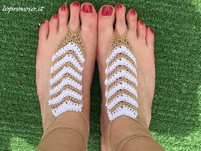 Sandali all'uncinetto senza suola - Crochet barefoot sandals