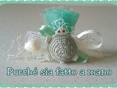 Tartaruga all'Uncinetto (BOMBONIERA) - Crochet Turtle Party Favor (english subtitles)