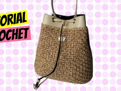 Tutorial borsa a secchiello uncinetto | Bucket bag crochet || Katy Handmade