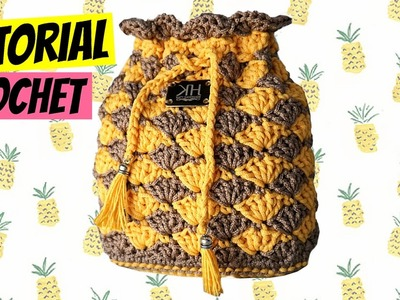 "Tutorial pochette ""Ananas"" uncinetto 