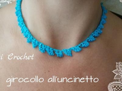 Tutorial girocollo collana all'uncinetto,crochet necklace