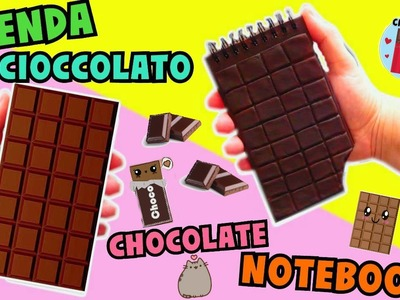 DIY AGENDA CIOCCOLATO (con la porcellana fredda) (Chocolate Notebook) || Iolanda Sweets
