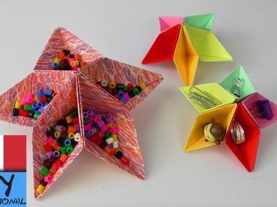 DIY come costruire una stella origami | fantastico piega e incolla per la scrivania | fai da te