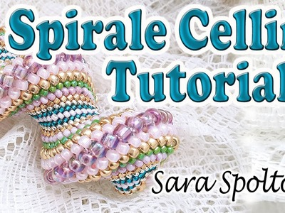 Tutorial spirale Cellini - Come fare bracciale collana con la spirale Cellini - Tutorial perline