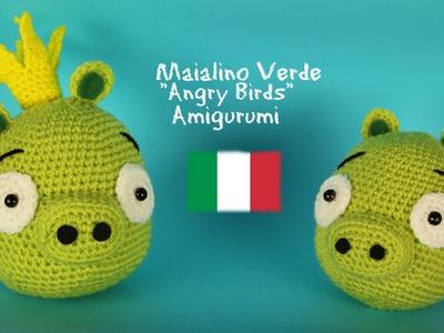 "Maialino verde ""Angry Birds"" Amigurumi | World Of Amigurumi"