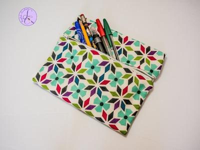 Tutorial: Pochette di Stoffa Senza Cucire (ENG SUBS - DIY No Sew Case Fabric)