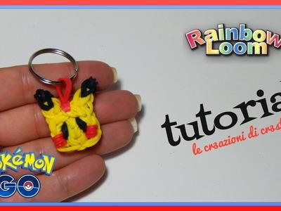 Pikachu POKEMON GO con Elastici RAINBOW LOOM - DIY Charm Tutorial