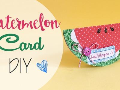 Tuto: Biglietto fetta d'Anguria - ENG SUBS Watermelon Card DIY