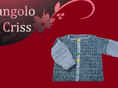 Giacchina neonato uncinetto - crochet baby cardigan - Chaqueta para bebè en crochet