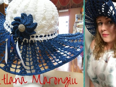Tutorial Cappello estivo in cotone all'uncinetto - How to crochet easy summer hat