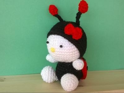 Tutorial Coccinella Uncinetto -Amigurumi Ladybug Crochet -Mariquita Croche - Joaninha Croche