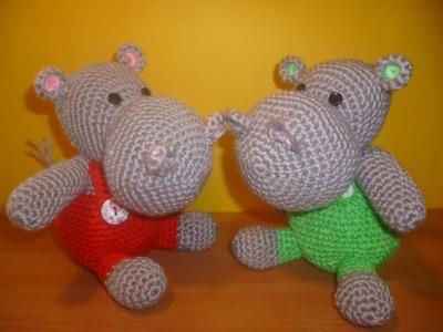Tutorial Ippopotamo Uncinetto - Amigurumi Hippopotamus Crochet - Hipopotamo Crochet