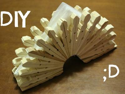 Portatovaglioli con le Mollette | How to make a napkin rings wth Clothespins