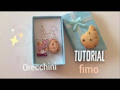 ❥Tutorial Fimo ! - ORECCHINI biscotti : Gocciole ! ❥ polymer clay