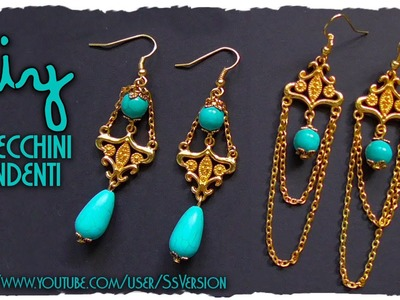 Tutorial: Orecchini Pendenti Eleganti ★ Gioielli semplici Vintage ★ DIY Earrings