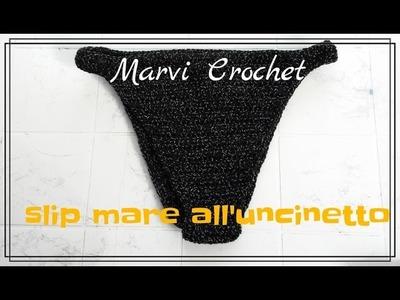 Tutorial slip bikini all'uncinetto, crochet bikini bottom