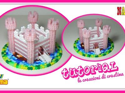 CASTELLO 3D con Perline Hama beads.Nabbi.Pyssla - DIY Fairy Castle Tutorial