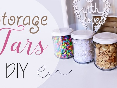 Idea riciclo: Barattoli porta decori - ENG SUBS Storage Jars DIY