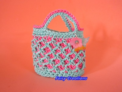 DIY tutorial borsetta crostata, DIY crochet bag