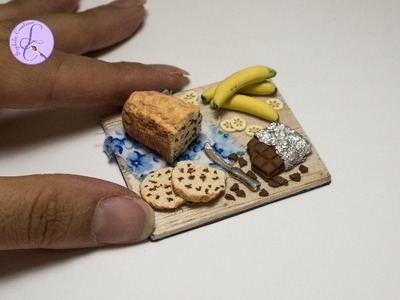 Tutorial: Plum Cake Banana&Cioccolato (ENG SUBS - DIY banana&chocolate cake with polymer clay)