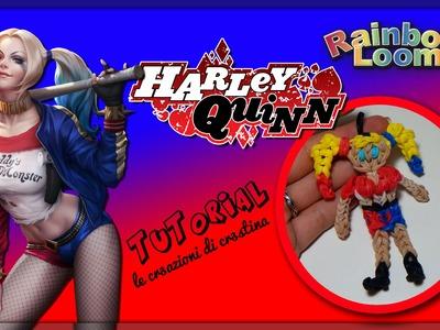 Harley Quinn con Elastici RAINBOW LOOM - DIY Suicide Squad Tutorial