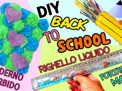 RIGHELLO LIQUIDO,QUADERNO MORBIDO E PORTAPENNE MATITA (DIY BACK TO SCHOOL ITA) Iolanda Sweets