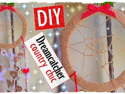 Tutorial: Acchiappa Sogni | Riciclo Creativo | DIY Dreamcatcher Country Chic