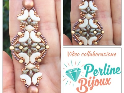 DIY TUTORIAL Earrings Orecchini Anastasia in collaborazione con Perlinebijoux