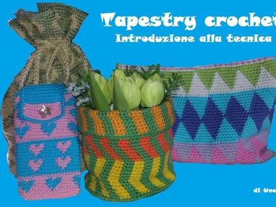 Tapestry crochet: introduzione e tutorial per realizzare il cerchio.